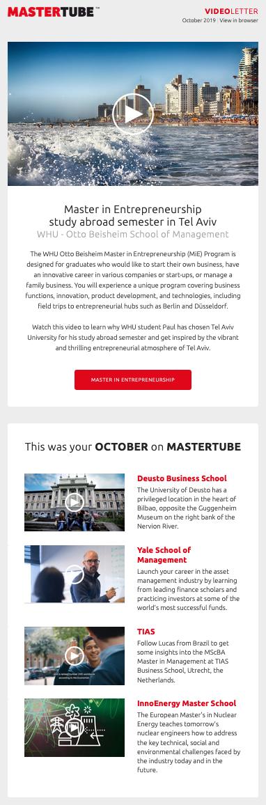 Videoletter October 2019