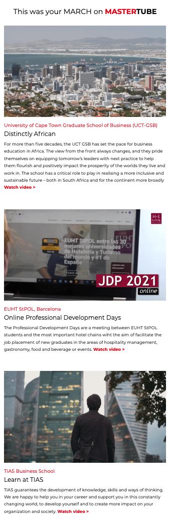 Videoletter March 2021